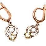 Golden jewellery earring — Stock Photo #6878068