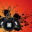 Vector de stock : Musical grunge background