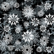 Royalty-Free Stock Vektorfiler: Seamless snowflakes background