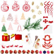 Christmas elements - Imagen vectorial