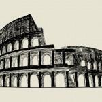Coliseo Romano — Vector de stock
