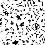 Seamless hieroglyphs — Stock Vector