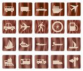 Transportation icon set — Stock Vector
