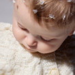 Bright portrait of adorable baby in the sweater — Stock Photo #6898278