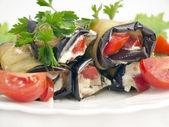 Fried eggplant — Stock Photo