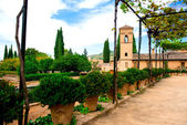 Alhambra courtyard — Stock Photo
