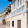 Apartment buildings in Santa Pola, Spain - Stock Photo
