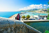 View of the Peniscola port in Valencia, Spain — Stock Photo