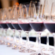 Glasses of red wine - Foto Stock