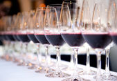 Glasses of red wine — Stock Photo