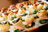 Close-up delicioso aperitivo — Foto Stock