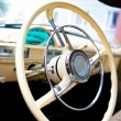 Gaz-21 steering wheel - Stock Photo