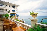 Beautiful hotel near the mediterranean sea — Stock Photo