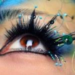 Beautiful eye make-up close-up — Stock Photo