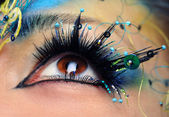 Beautiful eye make-up close-up — Stock Photo