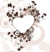 Linterna de amor con los corazones — Vector de stock