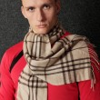 Man in scarf — Stock Photo