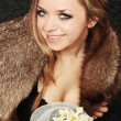 Royalty-Free Stock Photo: Girl in fur collar