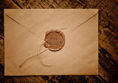 Top secret envelope with stamp — 图库照片