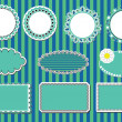Royalty-Free Stock Immagine Vettoriale: Set lace frames. vector illustration
