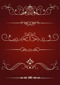 Set of decorative elements for editable and design — Stock Vector