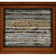Frame on wooden background — Stock Photo