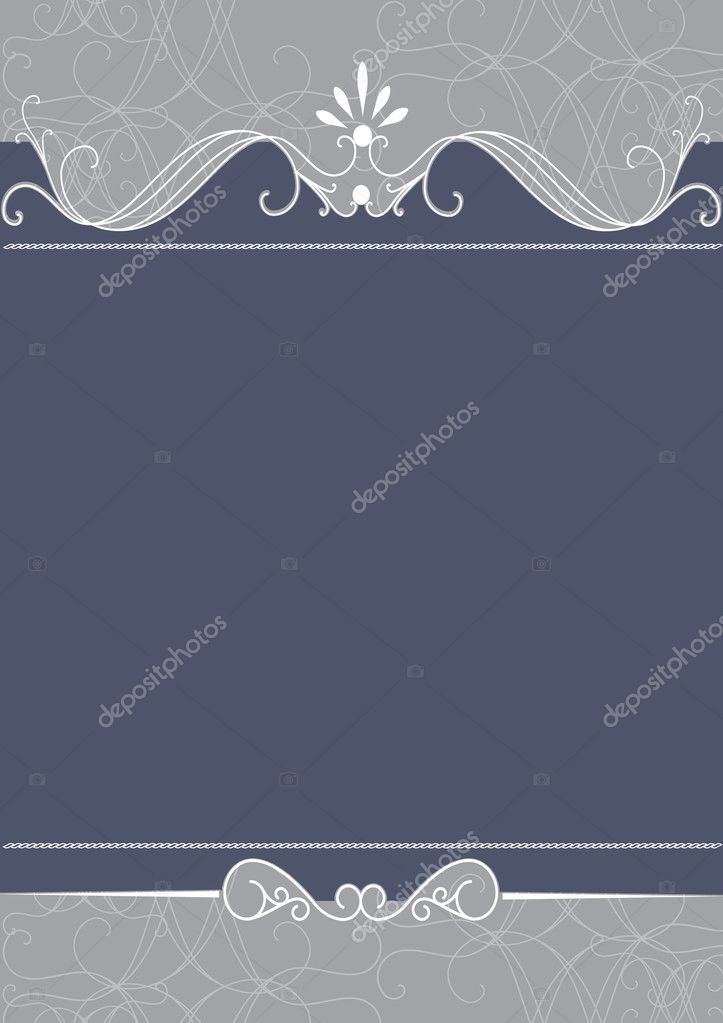 Vector Ornate Wedding Frame — Stock Vector #7379993