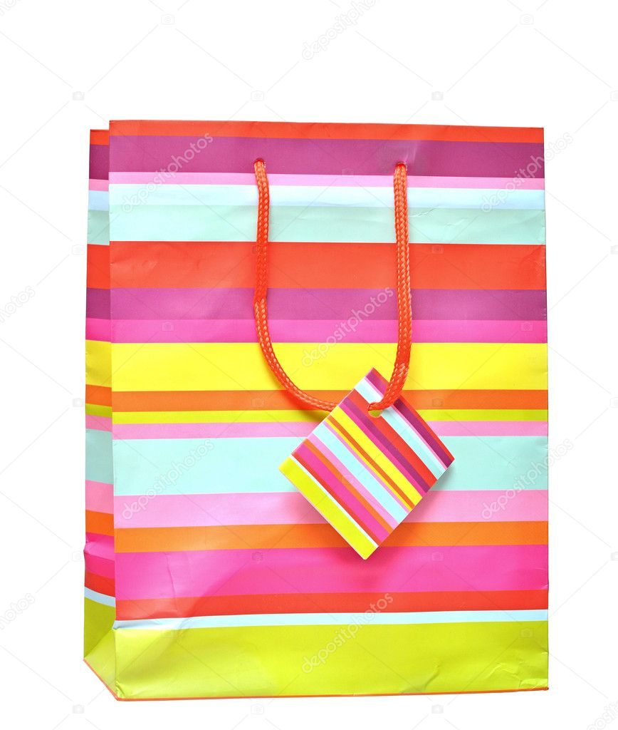 Shopping bag isolated on the white background — Stock Photo #7388797