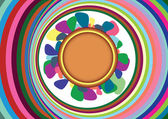 Abstrakt färgstarka bakgrund med cirklar. vektor illustration — Stockvektor