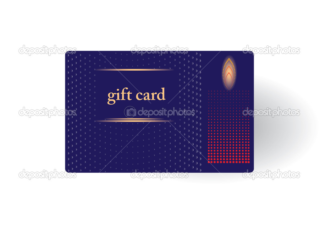 Beautiful gift card, vector illustration. — ベクター素材ストック #7676290