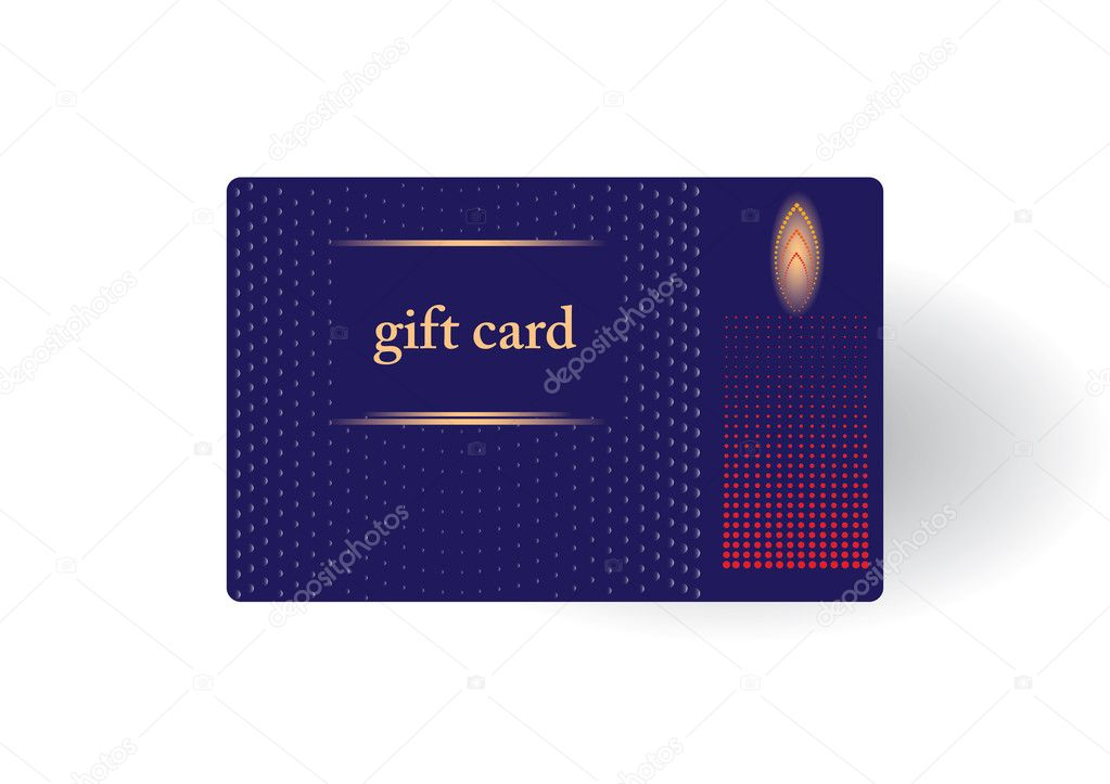 Beautiful gift card, vector illustration. — Image vectorielle #7676290