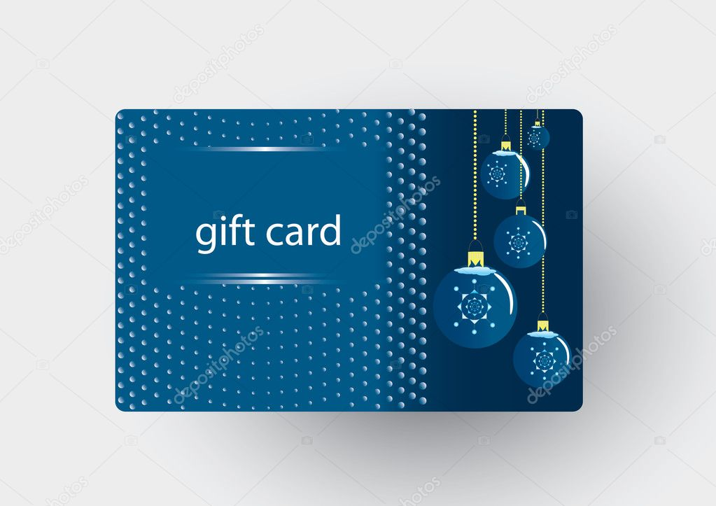 Christmas gift card — Image vectorielle #7676303
