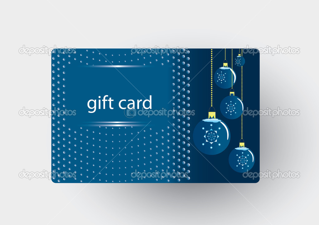 Christmas gift card — Stockvektor #7676303