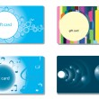 Set of modern gift card templates — Stock Vector