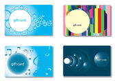 Set of modern gift card templates — Vettoriale Stock