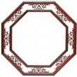 Picture frame red — Stock Photo