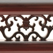 Carved wooden detail — Stock Photo