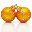 Christmas baubles isolated on white — Stock Photo