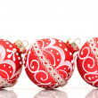 Beautiful red christmas decoration ball — Stock Photo