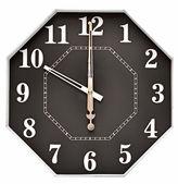 Clock face isolated on white background — Stock Photo