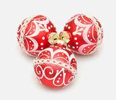 красивый красный рождественские украшения шар — Стоковое фото
