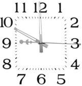Clock isolated on white — Stock Photo