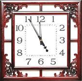 Vintage clock isolated on white background — Stock Photo