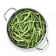 Stock Photo: Green beans in pan