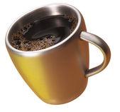Altın bir fincan kahve — Stok fotoğraf