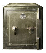 Green old safe — Stock Photo