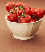 Bowl with tomatoes — Stock Photo