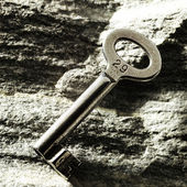 Key on the rocks — Stock Photo