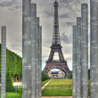 Eiffel and Peace memorial HDR — Stock Photo