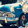 图库照片: Front view of vintage classic car